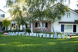 Happy Anniversary! Outdoor Announcement Decoration Card, Yard Sign Comes... - €44,21 EUR