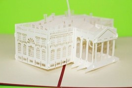 White House 3D Pop Up Greeting Card Handmade Happy Birthday 84 - $6.99
