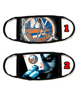 New York Islanders NY Face Mask with black string reusable washable #11 - $14.54+
