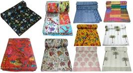 Kantha Quilt Indian Bedspread Blanket Gypsy Throw King Size Vintage Bloc... - £4.68 GBP+