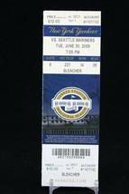 New York Yankees vs Seattle Mariners MLB Ticket w Stub 06/30/2009 Inaugural - $8.08