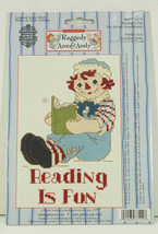 Raggedy Andy Reading is Fun Cross-Stitch Kit Janlynn NEW - $12.99