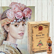 Pure Bulgarian Rose Oil Damascena Rose 1ml Bottle Essential Oil - $29.68
