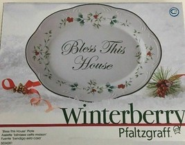 Pfaltzgraff Winterberry Bless This House Plate Platter Bread Tray New-SHIP N 24H - $14.58