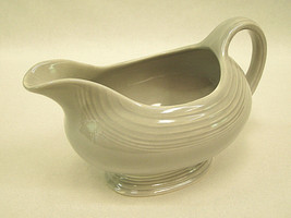 Vintage Old Fiesta Ware Gravy Sauce Boat in Gray Homer Laughlin China 19... - $24.75