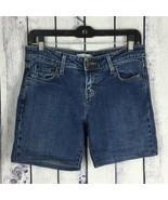 Levis 545 Womens Size 4 4M Denim Jean Shorts Walking Medium Wash Low Ris... - $13.99