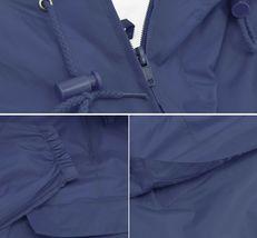 Men's Water Resistant Windbreaker Hooded Half Zip Pullover Rain Jacket image 13