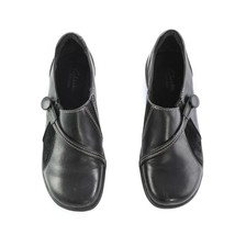 Clarks Artisan Black Leather Slip On Comfort Shoes Loafers Womens 6 M SN 85107 - $29.57