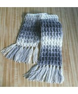 """Ladies Gray and White Scarf 53"""" long - $14.80"""