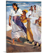 ARTCANVAS Fisherwomen from Valencia 1915 Canvas Art Print by Joaquin Sor... - $43.99+