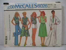 Vintage McCall's Pattern 6026 Miss Size 10 Jacket Top Skirt Pants Shorts... - $8.41