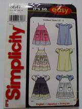 simplicity 5647 size A 1/2 - 4 it's so easy  uncut pattern girls - $7.70