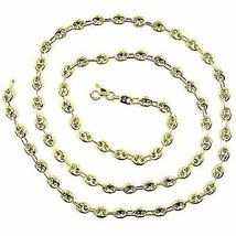 9K YELLOW GOLD NAUTICAL MARINER CHAIN OVALS 4 MM THICKNESS, 20 INCHES, 50 CM image 3