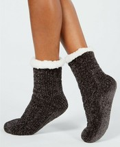 Charter Club Womens Chenille Slipper Socks with Grippers Size L/XL Grey ... - $9.49