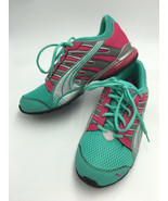 Puma Womens 6.5 7 Mint Teal Pink Silver Athletic Shoes Lace Up Gym - $16.99