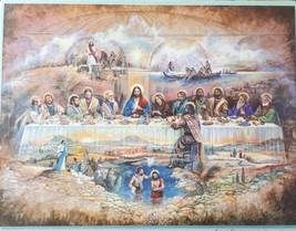 """LAST SUPPER Life of Christ Bits and Pieces 300 Piece Puzzle 18"""" X 24"""" NEW - $26.14"""