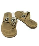 Skechers Somethin Else Womens Seashell Flip Flops Tan Size 9 - $18.54