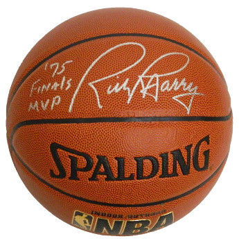 Primary image for Rick Barry signed Spalding NBA Indoor/Outdoor TB Basketball '75 Finals MVP (Gold