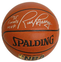 Rick Barry signed Spalding NBA Indoor/Outdoor TB Basketball '75 Finals M... - $98.95