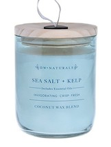 DW Naturals Richly Scented Candle SEA Salt + KELP in Large Jar with Wood... - $40.84