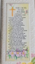 The Cross in My Pocket Religious Easter Plaque Kathy Ann Penny Plaques V... - $18.79