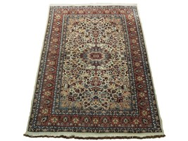 Ivory Wool Carpet 5 x 7 Fine Quality Reproduction Traditional Handmade Rug image 1