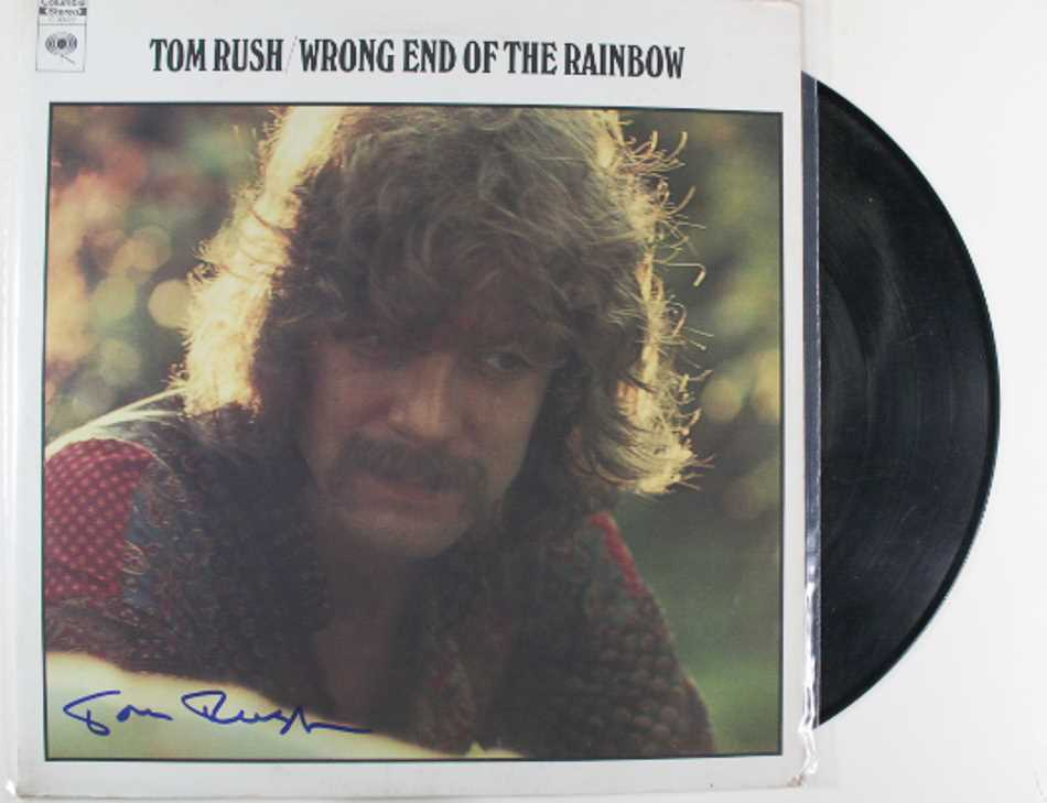 "Primary image for Tom Rush Signed Autographed ""Wrong End of the Rainbow"" Record Album"