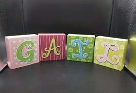 "Girls Name Letters GAIL Wall Shelf Standing Decor Art 5"" Ceramic Paintable - $12.19"