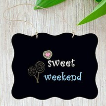 HAOLIVE Chalkboard Sign Double Sided Erasable Message Board with Hanging... - $11.01