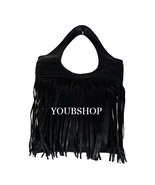 Leather Moroccan Genuine Boho HandBag, Boho Handbag Leather Fringe Handmade - $59.95