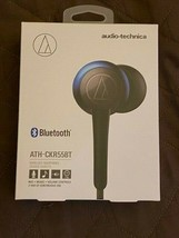 Audio Technica ATH-CKR55BTBL Sound Reality Bluetooth Earphones BlUE- -Brand New
