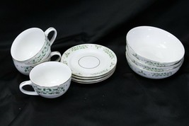 Gibson Holiday Charm Xmas Bowls Cups Saucers Lot of 9 - $42.09