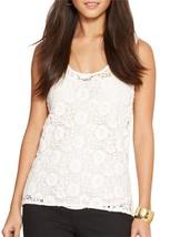 14448-1 LRL Ralph Lauren Womens White Floral Lace Sleeveless Tank Top Sz... - $27.76