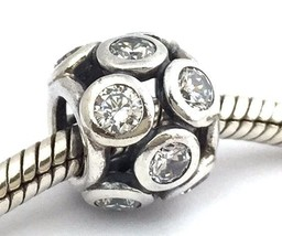 Authentic Pandora Whimsical Lights Clear Sterling Silver Bead Charm 791153CZ New - $48.44