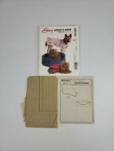 McCalls Easy Sewing Pattern M5165 Pet Accessories Bed Cover & Coat 7 Pie... - $5.27