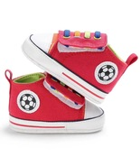 Red Canvas Baby Walking Shoes 0-18M Infant Soft Bottom Toddler Shoes Y20627 - $16.99
