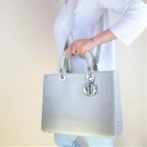 Dior Limited Edition Beige Python Lady Dior Large Shoulder Bag - $2,399.00