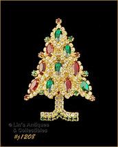 Signed Eisenberg Ice Rhinestone Christmas Tree Pin (#J1208) - $110.00