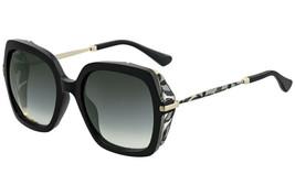 JIMMY CHOO JONA Black Grey Floral Blinker Square Sunglasses JONA/S Authe... - $186.96