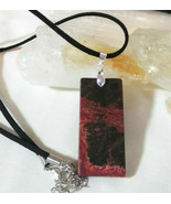 Necklace with Picasso Jasper Pendant Natural Healing Stone  Women Men - $19.79