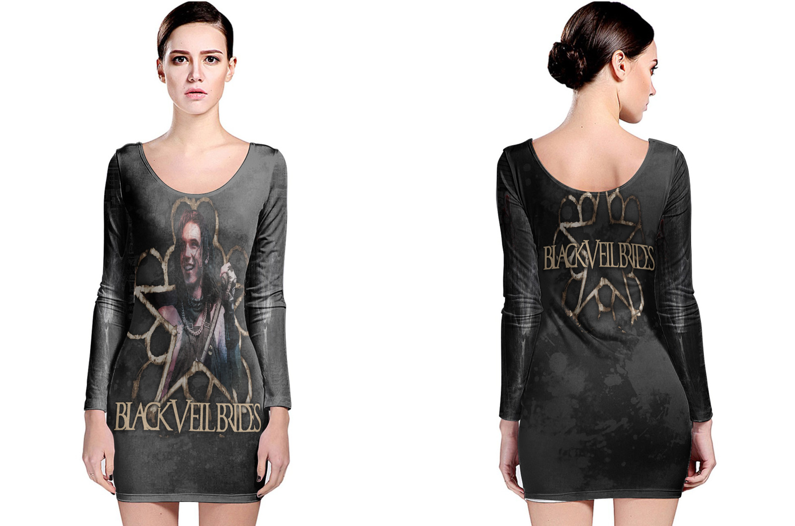 Primary image for Black Veil Brides Collection #2 Women's Long Sleeve Bodycon Dress