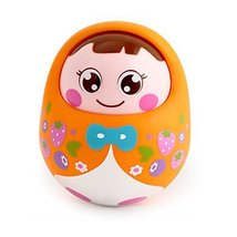 Lovely Nodding Doll Tumbler Push and Pull Toys(orange)