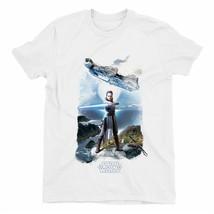 Star Wars Rey Falcon Children's Unisex White T-Shirt - $14.14