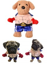 Pet Halloween Costume Boxer Cosplay Suit Funny Dog Cat Clothing for Chri... - €15,56 EUR+