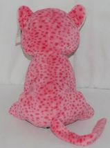 Ganz Brand HV9105 Pink Spotted Plush Chewey Style Leopard With Heart image 3