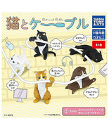 Cats Attacking Cables Cable Holder Figure Collection Hugcot - $11.99+