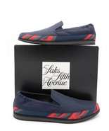 NIB Prada Mens Blue Nylon Logo Slip-On Sneaker Shoes 9.5US 8.5UK - $347.16