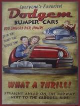 Dodgem Bumper Cars Ride Metal Sign - $29.95