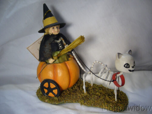 Bethany Lowe Halloween Skelly's Pumpkin Carriage Ride no. TD9077