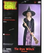 Child's Tie Dye Witch Halloween Costume Large 8-12, NEW UNUSED - $6.89